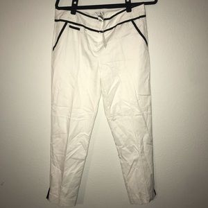 Cache White pant with black detailing NWT